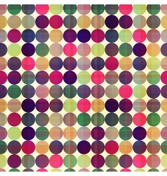 seamless circles background texture vector image
