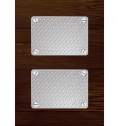 wood metal plate vector image