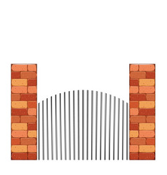 Bricks castle tower wall stone vector