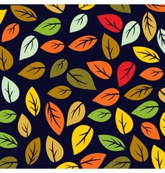 Colored pattern on leaves theme Autumn pattern vector image