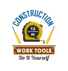 Construction and repairs work tools icon vector image vector image