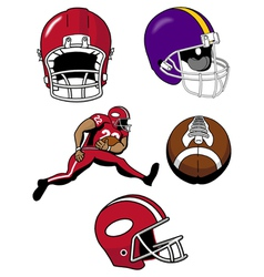 football equipment vector image