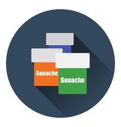 Gouache can icon vector image
