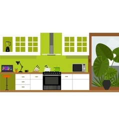 kitchen interior furniture house vector image
