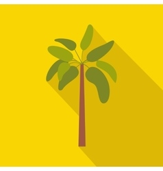 Palm plant tree icon flat style vector image vector image