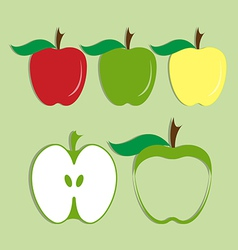 set of apple icon vector image vector image