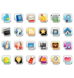 Social media sticker icon vector
