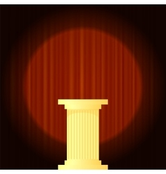 Yellow Marble Greek Column vector image vector image