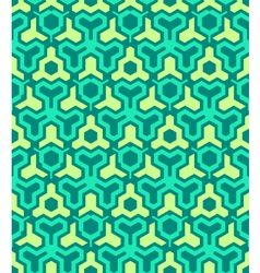 abstract geometric yellow green seamless pattern vector image