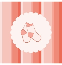 Baby Socks vector image