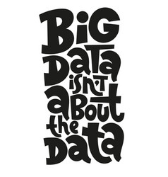 big data lettering vector image