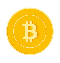Bitcoin internet currency coin isolated vector