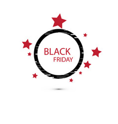 black friday sale sign icon special offer symbol vector image