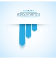 Blue abstract background with paper cut out vector