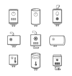 Boiler icons set vector