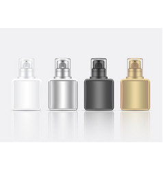 Bottle 3d mock up realistic foam cosmetic or vector