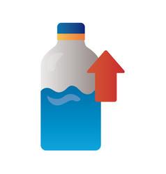 bottle milk with arrow up infographic degradient vector image