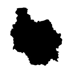 burgundy map silhouette vector image
