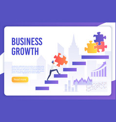Business growth modern landing page vector