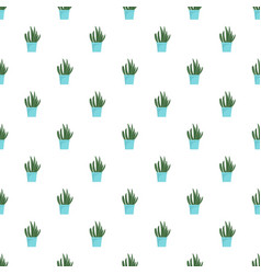 cacti pot pattern seamless vector image