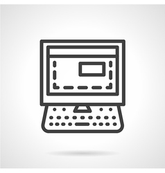 Car diagnostics simple line icon vector image