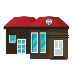 cartoon family house exterior concept vector image