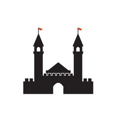 castle graphic design template isolated vector image