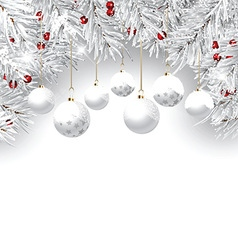 christmas bauble background 2810 vector image