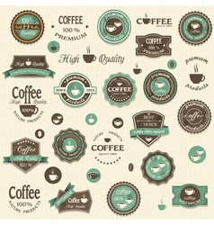 Collection coffee labels and elements vector