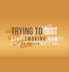 Collection stock of no tobacco day banner vector