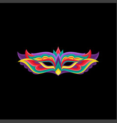 colorful masquerade party mask vector image