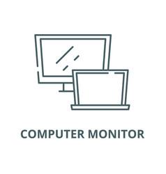 computer monitor line icon computer vector image