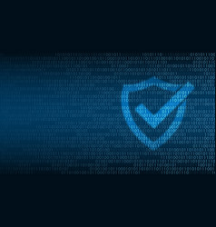 cyber technology security shield on digital vector image