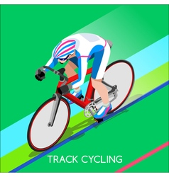 Cycling Track 2016 Summer Games 3D Isometric vector