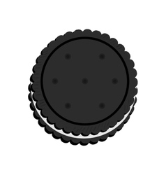 Delicious cookie Cartoon vector