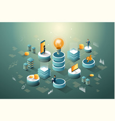 digital core business finance and networks data vector image