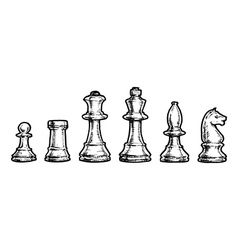 drawing of chess vector image