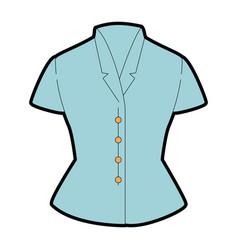 Elegant blouse for women vector