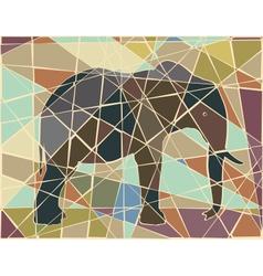 Elephant mosaic vector