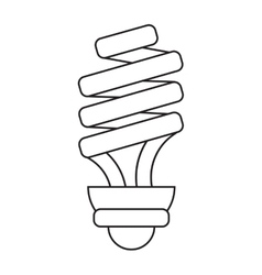 Energy saving lamp light bulb pictograph vector