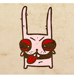 Evil Bunny Cartoon vector