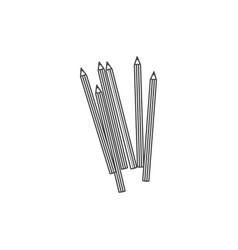 figure pencils color icon vector image