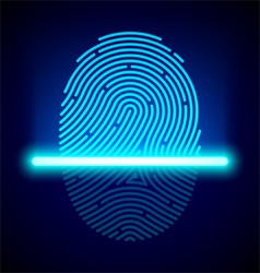 Fingerprint scanner vector image