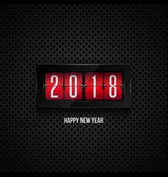 flip board clock 2018 happy new year concept vector image