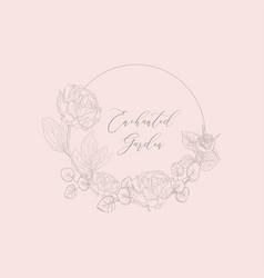 floristic feminine brand logo template vector image