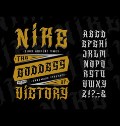 Font nike goddess victory vector