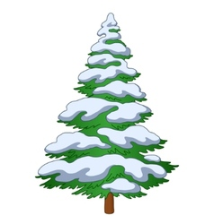furtree with snow vector image