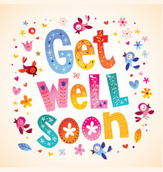 Get well soon card vector