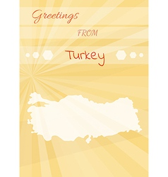 greetings from turkey vector image