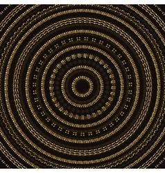 Hand drawn Circular pattern Gold Mandala vector